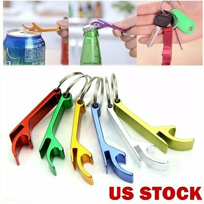 USA - Aluminum Alloy Key Ring Chain Bottle Opener Metal Beer Bar Tool Claw