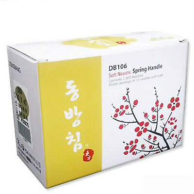 DONGBANG DB106 Blister Package Acupuncture 1000pcs/BOX Soft Needle Spring Handle