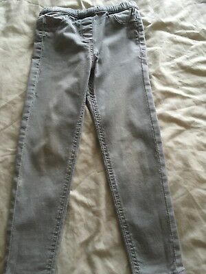 Girls Grey Jeans Age 6 Years