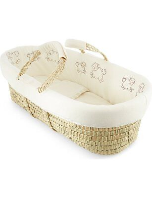 Natures Purest Cream Sleepy Sheepy Moses Basket Dressing Set  (Basket not inc)