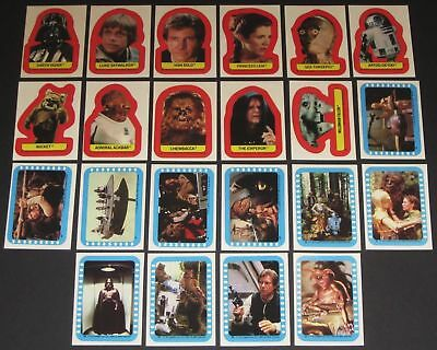 Star Wars - Jedi Series 2 -  Complete Card Sticker Set (22) - 1983 Topps - NM