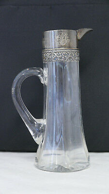 Cut Glass (bottom) Decanter w/ Sterling Silver Mount - mark may be Blackinton