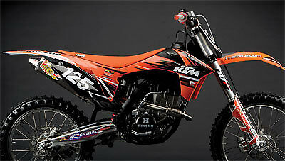 N-Style KTM TEAM GRAPHICS KIT SX SXF ( 2013 - 2014 - 2015 ) w/ BLACK BACKGROUNDS