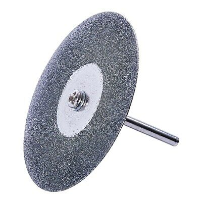 "50mm / 2"" Diamond Cut Off Disc w/ 3.2mm / 1/8"" Round Mandrel for Dremel or Drill"