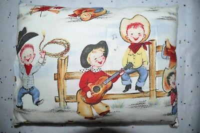 Tooth Fairy Pillow Cowboy Theme Print