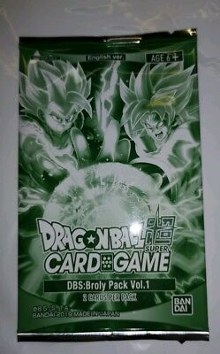 DBS: Broly Pack vol.1 1x Broly, the Awakened Threat, 1x SS Gogeta Sealed