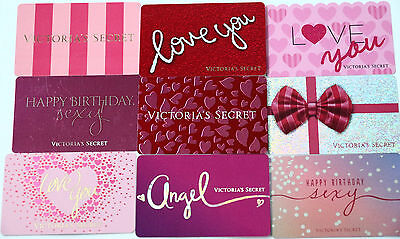 Lot of 9 Victoria`s Secret Collectible Gift Cards No Value Angel Happy Birthday!