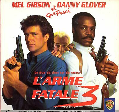 ARME FATALE 3 (L') WS VF RM PAL LASERDISC Danny Glover, Mel Gibson