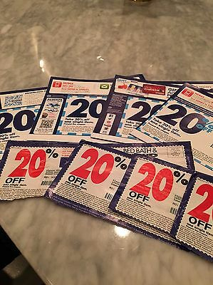 *** Lot of 10 Bed Bath and Beyond Coupon 20% Off One Item ***