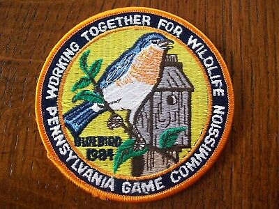 Pa Pennsylvania  Game Commission  Patch 1984 Dutch Country Bluebirds  Wtfw