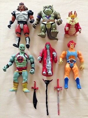Bundle of 1980's Thundercats Figures with Some Original Weapons LJN