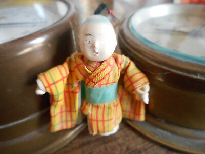 Antique Tiny Japanese Doll handmade kimono - approx. 2 inches