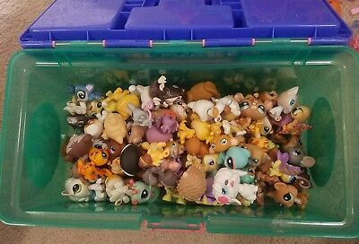 Littlest Pet Shop lps Huge Lot Of 10 Random Pets plus 3 accessories cats dogs