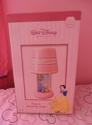 DISNEY PRINCESS Pink REVOLVING LAMP NEW in box Features Animation
