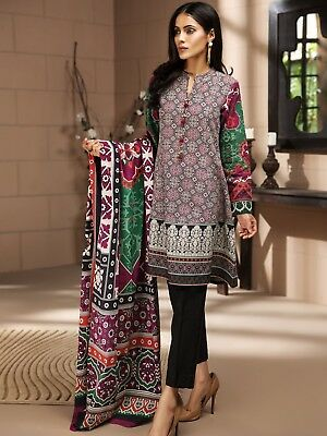Limelight stitched Large Size 2 piece kameez and shawl.
