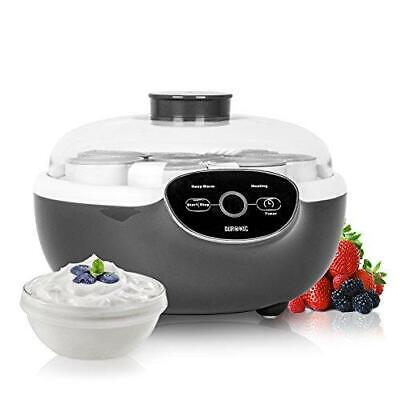 Duronic Yoghurt Maker YM2 | Yogurt Machine with 8 Ceramic Pots | Digital...