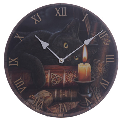Witching Hour Wall Clock By Lisa Parker Gothic Wicca Pagan Black Cat
