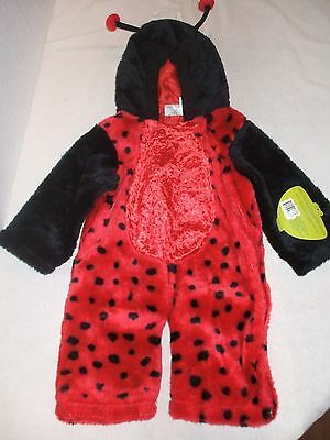 """Plush Petables """"LADY BUG"""" costume with hood infant size 12 - 24 months - NWT"""