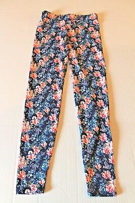 American Girl Tenney Grant Blue & Pink Floral Leggings Girl Size S 7-8 NEW