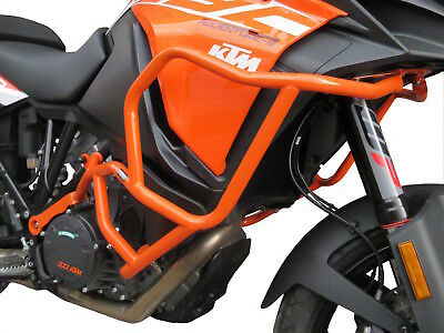 CRASH BARS HEED KTM 1290 SUPER ADVENTURE S (2017 - 2018) orange + BAGS