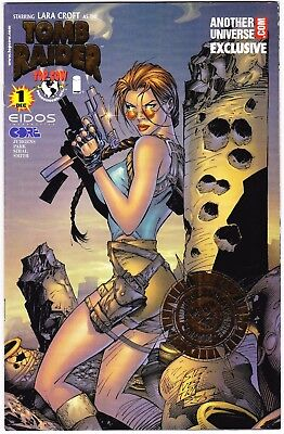 Tomb Raider #1 - Another Universe Gold Foil Stamp Variant - Cover By Silvestri