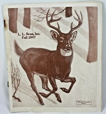 1947 L. L. Bean Fall Catalog Illustrated Deer Outdoors Hiking Winter Boots Glove