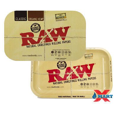 RAW CLASSIC Rolling Tray Medium 7x11 + Magnetic Lid Tray Cover COMBO Magnet