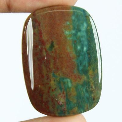 51ct Natural Best Grade Blood Stone Radiant Cabochon from Africa EZ77