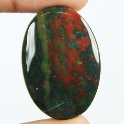 44ct Natural Best Grade Blood Stone Oval Cabochon from Africa HB11
