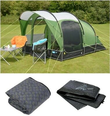 Kampa Brean 3 person tent, carpet & groundsheet. Used once. Green