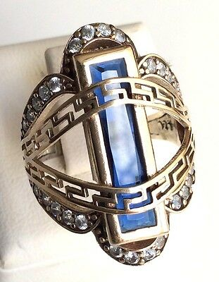 Turkish Handmade Jewelry Sterling Silver 925 Sapphire Ring 6 7 8 9