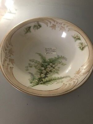 Vintage Old Ivory Silesia Antique Large  10 Inch Serving Bowl