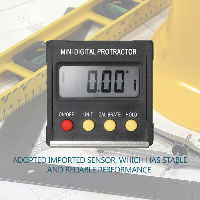 Digital LCD Protractor Inclinometer Bevel Angle Finder Gauge Magnet Base T6I6