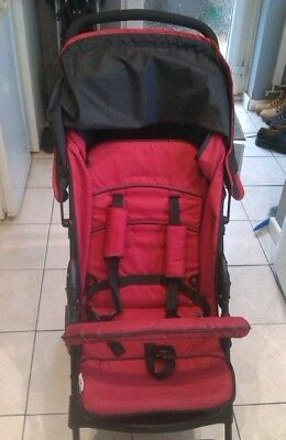 Hauck Sport Red And Black Lightweight Baby Stroller Buggy From Birth