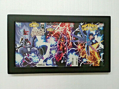 3Book Connecting Cover Comic Book POD Wall Hanging Display Frame Quality Made!