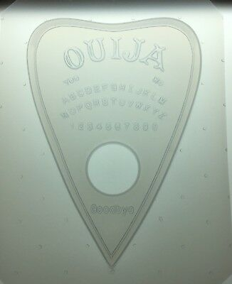 "Flexible Plastic Extra Large XL Ouija Planchette Resin Mold 5"" X 1/2"" Deep"