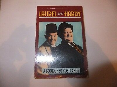 laurel and hardy a book of 30 post cards