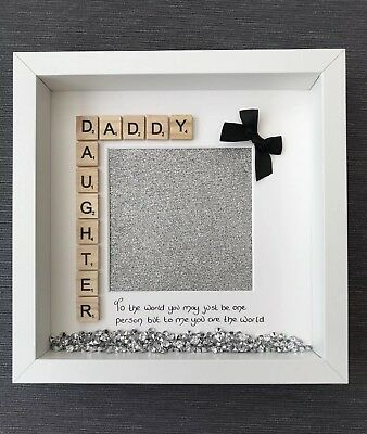 Dad Daddy Daughter Handmade Photo Frame