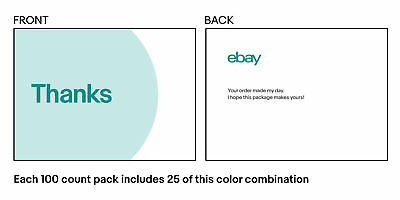 """THANK YOU CARDS   QUANITY 60  4-COLOR eBay-Branded 5.5"""" x 4"""" Thank You Postcards"""