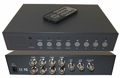 Evertech 8 Channel Analog Quad Processor Video Screen Switch CCTV Splitter