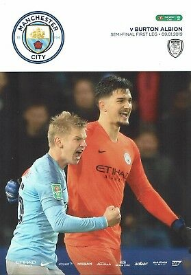 Manchester City v Burton Albion Matchday Programme 2018/2019 - 9th January 2019