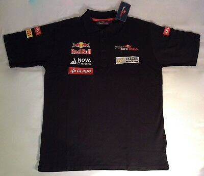 Mens Red Bull Scuderia Toro Rosso F1 Polo T Shirt New Size L Hartley Gasly