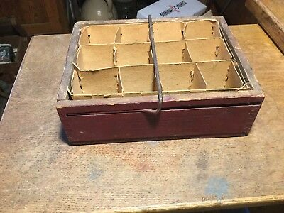 Vintage Dovetailed Wooden Star Egg Carriers & Trays Pat 1906 Rochester N.Y.