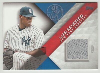 2018 Topps Luis Severino Major League Materials Game Worn Jersey Relic YANKEES