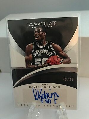 2017-18 Panini Immaculate Collection Auto David Robinson 48/99
