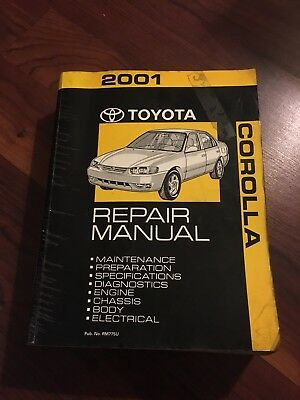 2001 Toyota Corolla Service Repair Manual Factory OEM BOOK