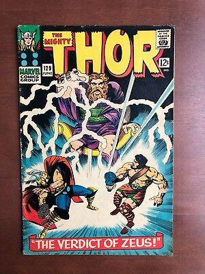 Thor #129 (1966) 7.0 FN Marvel Key Issue Comic Silver Age 1st Ares App Stan Lee