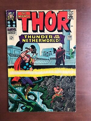 Thor #130 (1966) 7.0 FN Marvel Key Issue Comic Silver Age Jack Kirby Stan Lee