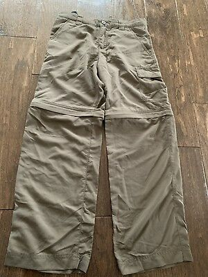 Columbia Omni-Tech Nylon Youth Boys 8 Convertible Zip off Pants Brown