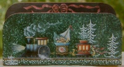 """Alice Barrow tole painting pattern """"Polar Express Letter Holder"""""""
